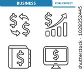 business icons. professional ... | Shutterstock .eps vector #1028352445