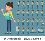 a set of women with who express ... | Shutterstock .eps vector #1028352955