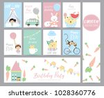 blue pink pastel greeting card... | Shutterstock .eps vector #1028360776