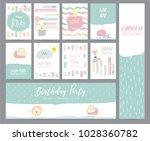 green pink pastel greeting card ... | Shutterstock .eps vector #1028360782