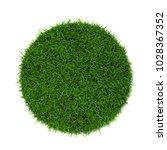 green grass lawn. 3d... | Shutterstock . vector #1028367352