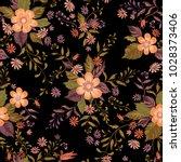 floral seamless pattern. flower ... | Shutterstock .eps vector #1028373406