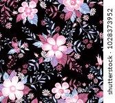 floral seamless pattern. flower ... | Shutterstock .eps vector #1028373952