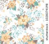 floral seamless pattern. flower ... | Shutterstock .eps vector #1028374198