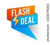 flash deal  banner flat design. ... | Shutterstock .eps vector #1028378302