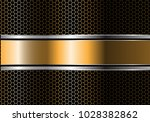 abstract gold silver black line ... | Shutterstock .eps vector #1028382862