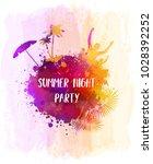 abstract painted splash shape... | Shutterstock .eps vector #1028392252