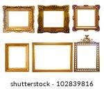 set of few luxury gilded frames.... | Shutterstock . vector #102839816
