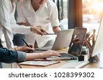 business startup with cropped...   Shutterstock . vector #1028399302