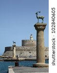 The Mandraki Port Of Rhodes ...
