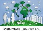 family enjoy fresh air in the... | Shutterstock .eps vector #1028406178