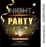disco party gold luxury card ... | Shutterstock .eps vector #1028414962