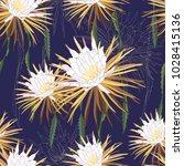 night blooming cereus flowers... | Shutterstock .eps vector #1028415136