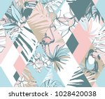 seamless diamond pattern... | Shutterstock .eps vector #1028420038