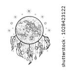 vector illustration moon on the ... | Shutterstock .eps vector #1028423122