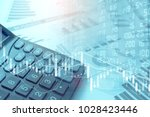 stock market or trading graph... | Shutterstock . vector #1028423446