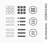 menu icon  menu vector | Shutterstock .eps vector #1028431462