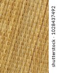 Small photo of Plaited Natural Ocher Straw Place Mat Mottled Coarse Rustic Grunge Texture