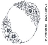 vector black and white floral... | Shutterstock .eps vector #1028438926