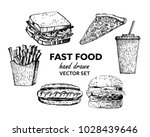 fast food realistic sketches.... | Shutterstock .eps vector #1028439646