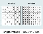 vector sudoku with answer 120....   Shutterstock .eps vector #1028442436