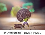 hulk and ant man fight biscuit  ... | Shutterstock . vector #1028444212