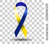 down syndrome  yellow blue... | Shutterstock .eps vector #1028446105