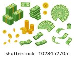 collection of dollar coins and... | Shutterstock .eps vector #1028452705
