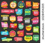 modern sale stickers and tags... | Shutterstock .eps vector #1028454205
