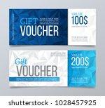 gift voucher template design.... | Shutterstock .eps vector #1028457925