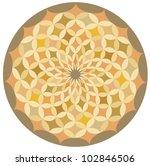 a circular decorative pattern. | Shutterstock .eps vector #102846506
