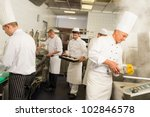 professional kitchen busy team... | Shutterstock . vector #102846578