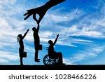 employer's hand chooses a... | Shutterstock . vector #1028466226