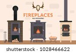 several ovens and accessories... | Shutterstock .eps vector #1028466622