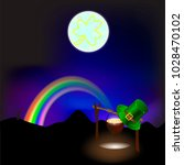 northern lights of the rainbow  ... | Shutterstock .eps vector #1028470102