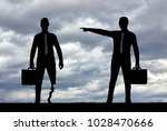 employer refuses the invalid... | Shutterstock . vector #1028470666