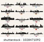 vector world cities skylines... | Shutterstock .eps vector #1028471092