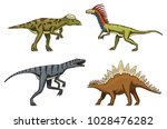 small dinosaurs  deinonychus ... | Shutterstock .eps vector #1028476282