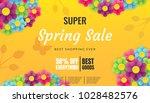 spring sale banner template... | Shutterstock .eps vector #1028482576
