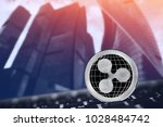 ripple. coin xrp on background... | Shutterstock . vector #1028484742