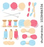 threads for sewing for cross... | Shutterstock .eps vector #1028486536
