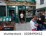 shakespeare and company... | Shutterstock . vector #1028490412