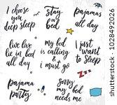 set of vector sleep quotes. i...   Shutterstock .eps vector #1028492026