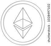 ethereum   cryptocurrency coin. ... | Shutterstock .eps vector #1028497102