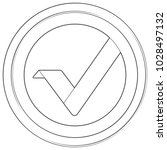 vertcoin   cryptocurrency coin. ... | Shutterstock .eps vector #1028497132