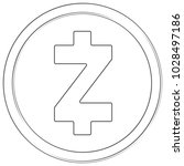 zcash   cryptocurrency coin.... | Shutterstock .eps vector #1028497186