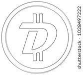 digibyte   cryptocurrency coin. ... | Shutterstock .eps vector #1028497222