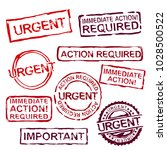 urgent stamps set in differeint ... | Shutterstock .eps vector #1028500522