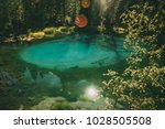 geyser lake near aktash  altay  ... | Shutterstock . vector #1028505508