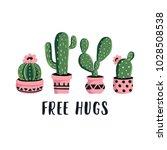 vector cactus illustration in... | Shutterstock .eps vector #1028508538